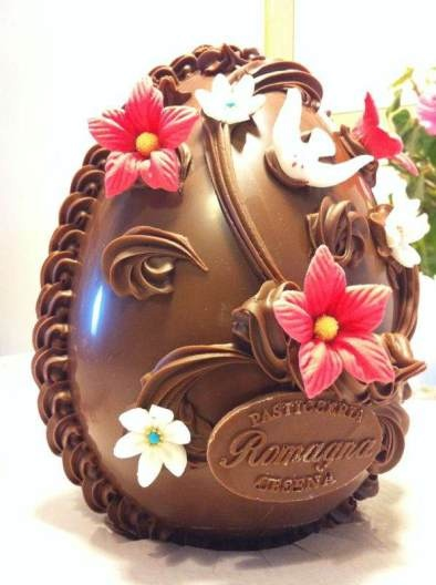 The traditional chocolate Easter egg