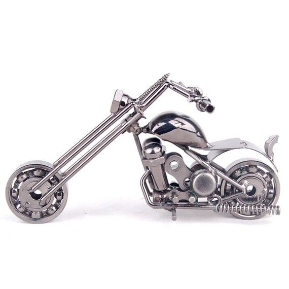 Nuts and Bolts  Motorcycle Replica by HandsHome on Etsy, $10.00
