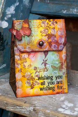 A tag bag by Sarah: Distress Ink, Inspiration, Albums Tags, Papercrafts, Wrapping Bags Bows Tags Etc, Monthly April, Tagology