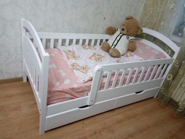 Детская кровать-кроватка Карина, купить новую, с дерева! Киев - изображение 1