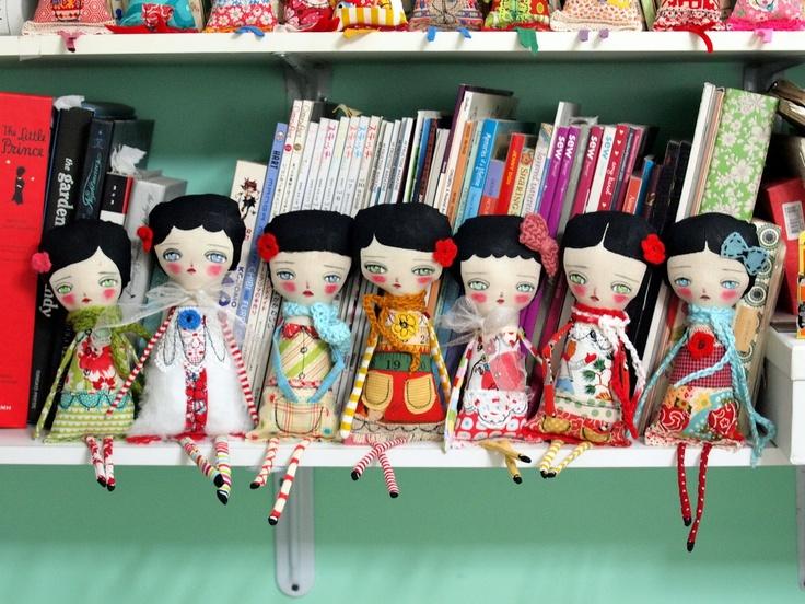 ADA  - Original Handmade Fabric Doll by Danita Art (Approx. 12 Inches Tall). $65.00, via Etsy.