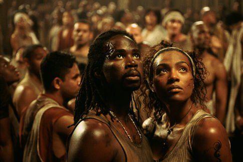 Still of Nona Gaye and Harold Perrineau in The Matrix Revolutions