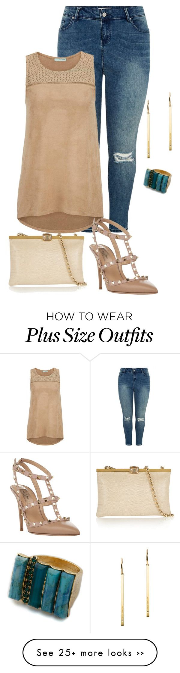 """plus size simple and chic night out"" by kristie-payne on Polyvore featuring maurices, Dolce&Gabbana, Michael Kors, Valentino and Elizabeth Cole"