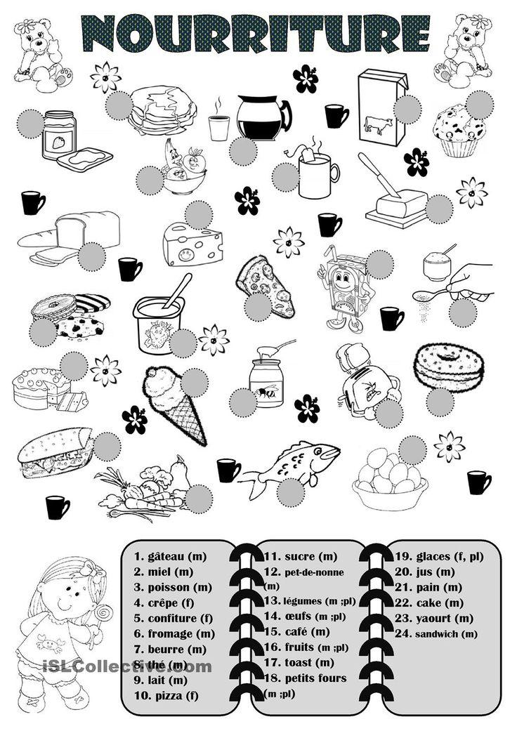 1000 images about le fran ais les aliments on pinterest vocabulary worksheets legumes and. Black Bedroom Furniture Sets. Home Design Ideas