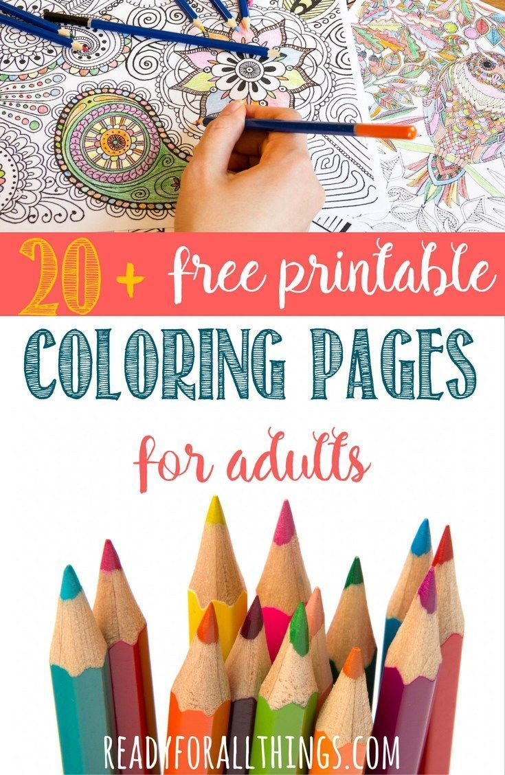 Free printable coloring pages for adults only adult coloring pages 59 - 20 Free Printable Adult Coloring Pages