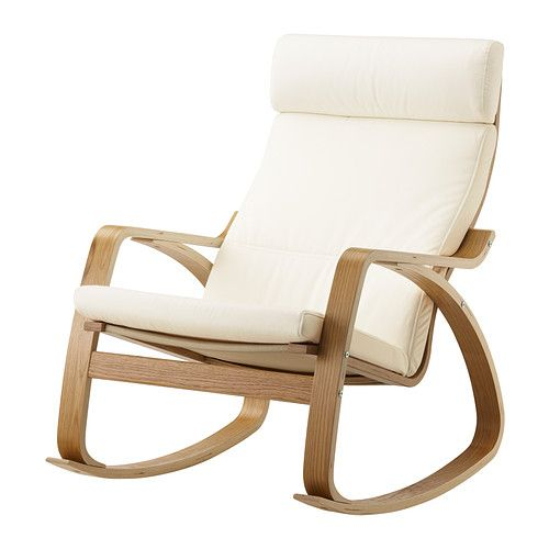 POÄNG Rocking-chair - Granån white, oak veneer - IKEA