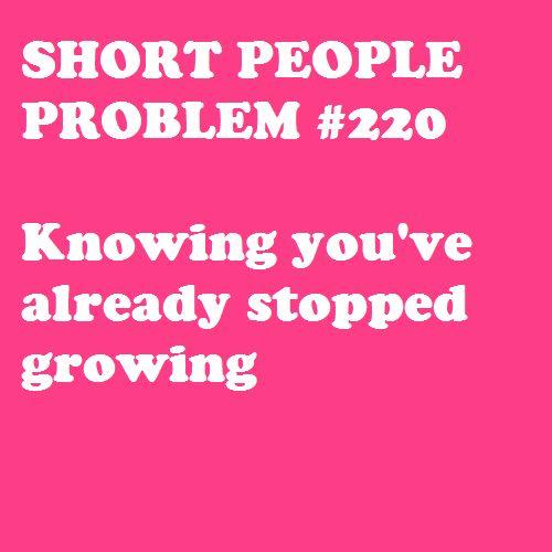 """""""Problema de petisos #220 Saber que ya dejaste de crecer."""""""