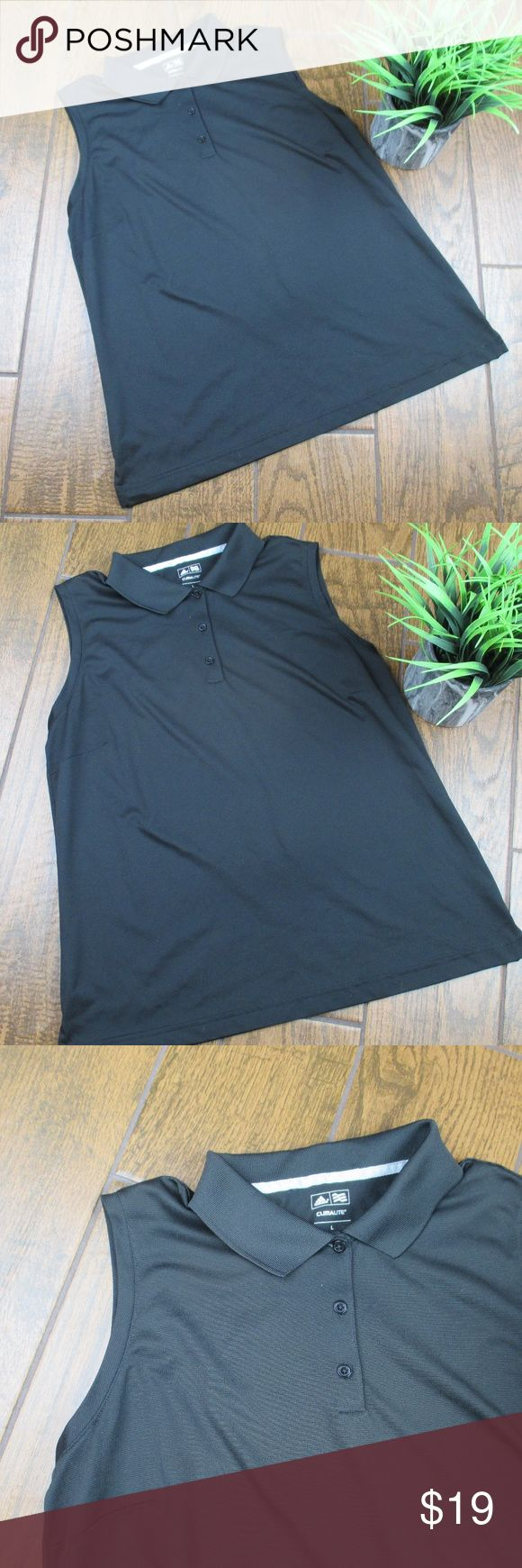 Large Adidas ClimaLite Sleeveless Polo Black Adidas ClimaLite Athletic Tank Top Polo Shirt Black Size Large Preowned but in excellent condition Super stretchy Bust from pit to pit is 22 inches Length is 26 inches  OFFERS ACCEPTED Add to a bundle for an automatic discount  Colors may very due to lighting, seller does its best to portray the right color. Please inspect all photos.  #Q016 adidas Tops Tank Tops