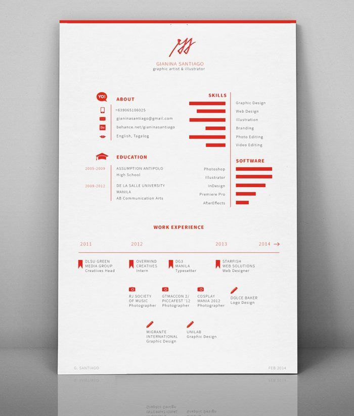 328 best Documents design ideas images on Pinterest Easy resume - clean resume design