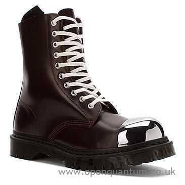 Factory Women Dr. Martens Grasp Steel Toe Cap Boot Oxblood Polished Smooth R16152601 - Ankle Boots