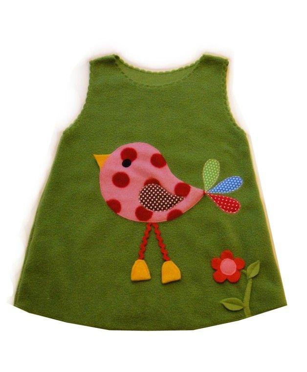 """Kleider - Herzbeet """" Kleiner Spatz """" Wunschgröße - ein Designerstück von Herzbeet bei DaWanda"""