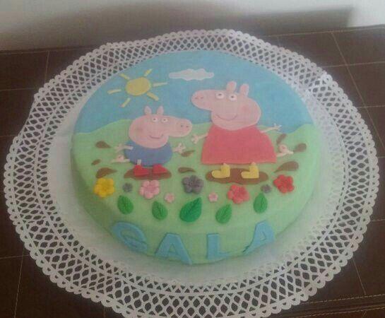 Tarta de Pepa Pig para el cumple de Gala!!