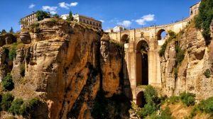 Preview wallpaper ronda, andalucia, spain, aqueduct, mountain, bridge, arch, canyon 1280x720