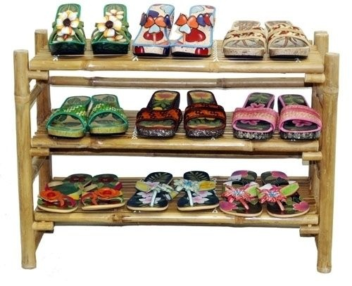 Bamboo Shoe Display Stand Rack Shelves  Great for tropical, asian, surf, zen, tiki, or beach theme decor, stores or homes.    (805) 479-Tiki (8454) M-F 9am-5pm PST or eBay user ID: TIKITOESCA or email address:  TikiToesCa@aol.com Thanks! Michele Craft.  Click on the picture to take you to order page.  Call in your order with a major credit card and mention you saw it on Pinterest and get a free gift!