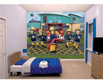 Fireman Sam And All His Friends Outside Ponty Pandy Fire Station! Available  To Order At · Fireman SamWallpaper MuralsWall ... Part 59