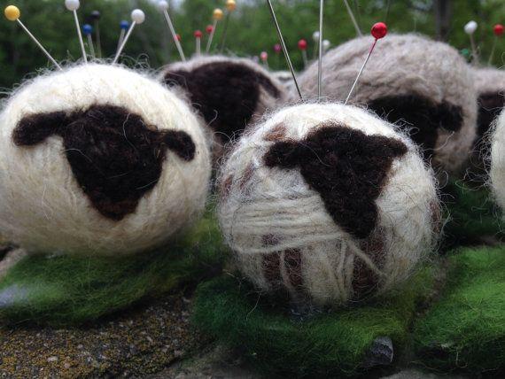 Baah Sheep Pincushions from our Vermont by wingandaprayerfarm