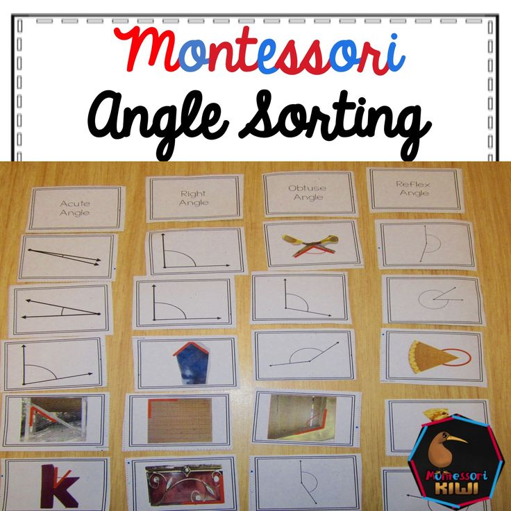 Angles Sorting montessori inspired activity great for elementary math or geometry