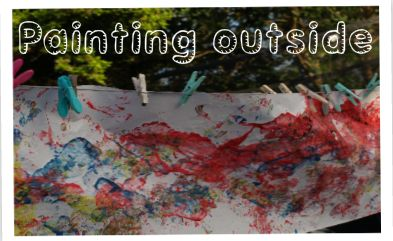 Create A Giant Painting Outside - paint with your feet!Preschool Activities, Black Painting, Throw Painting, Painting Outside, Giants Painting, Kids Activities, Kids Crafts, Gardens, Feet Painting