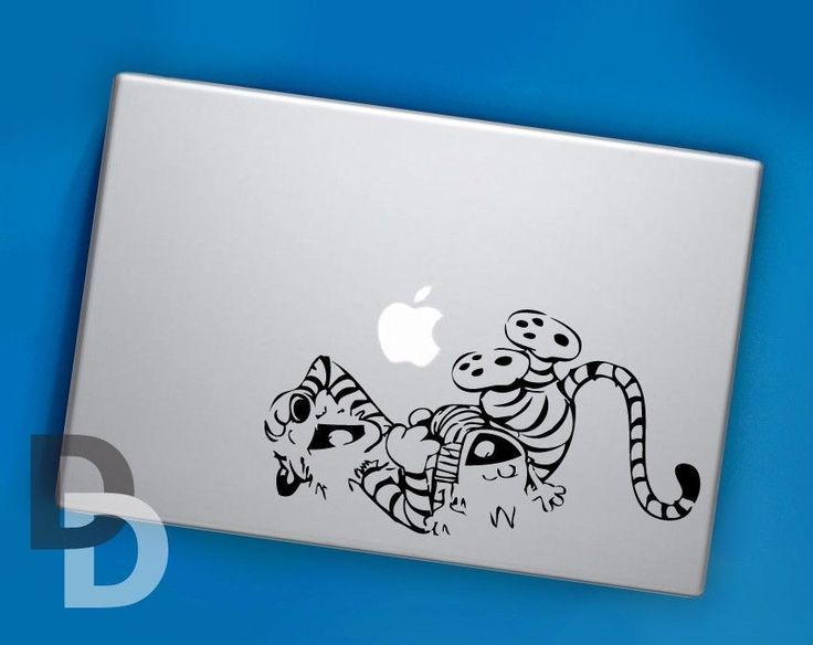 Calvin and Hobbes Laughter Macbook decal / Laptop sticker / Cartoon decal #UnbrandedGeneric