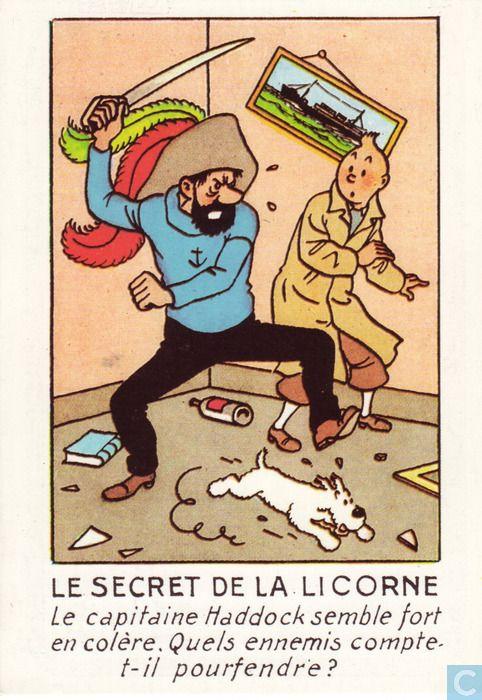 Carte postale - Tintin - Le secret de la licorne