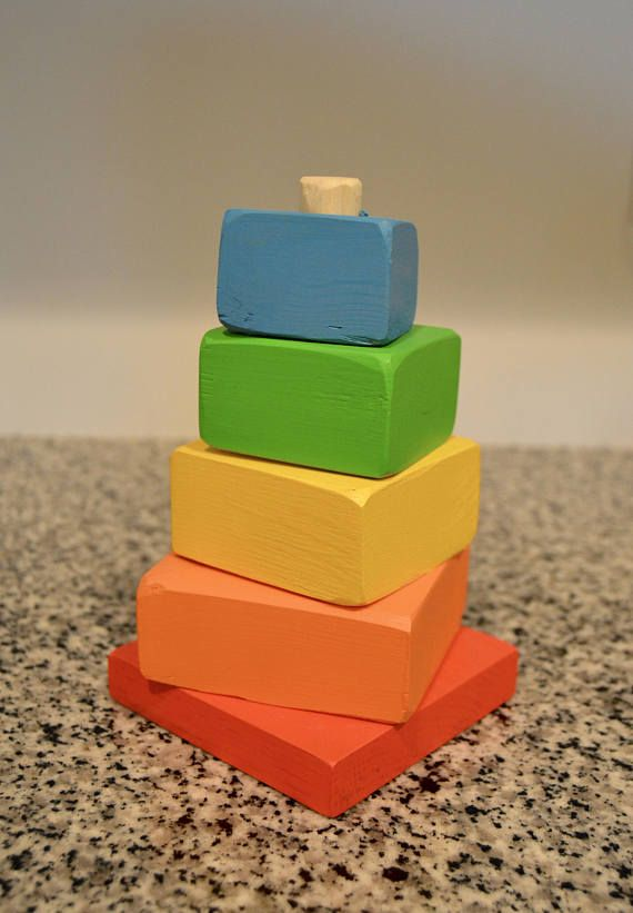 Wooden Stackable Blocks/Baby Shower Gift/Handmade