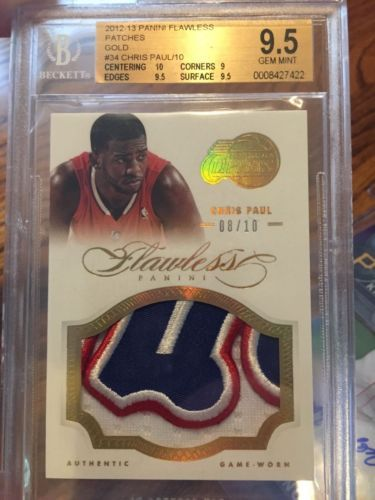 2012/13 Chris Paul Panini Flawless Gold Patch 08/10 BGS 9.5/10 Gem Mint
