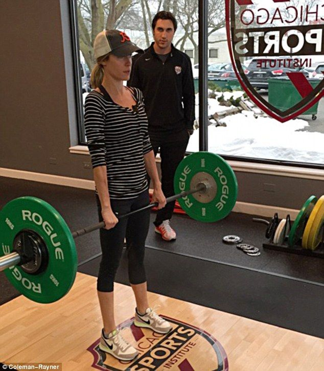 Putting the weight on: Kristin Cavallari is battling to bulk up her skinny frame and now personal trainer Michael Sorrentino has revealed the gruelling routine she undergoes four times a week to achieve her goal