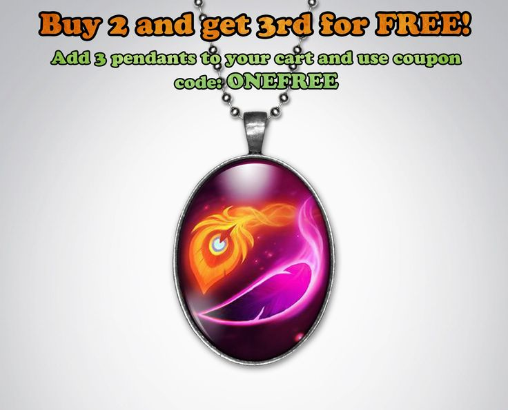 Xayah and Rakan Feather League of Legends Keychain or Pendant