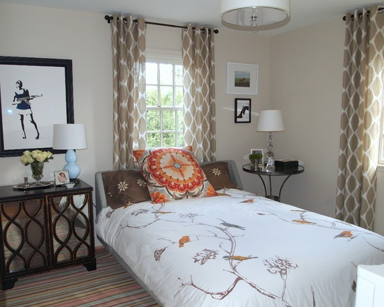 Eclectic Bedroom White And Brown Bedroom Design, Pictures, Remodel, Decor and Ideas - page 19