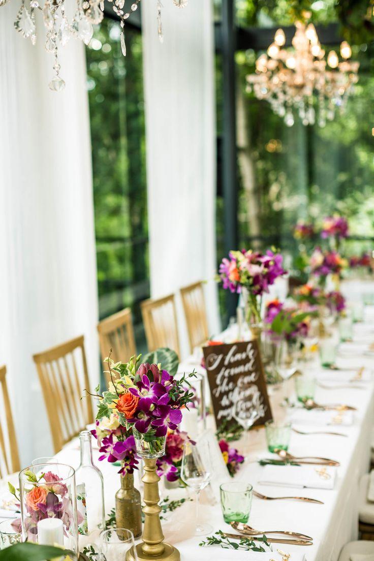 Tropical Destination Wedding Reception