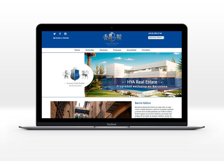 Web para HyA Real Estate - Immobiliaria de propiedades en exclusiva #laende #web #inmobiliaria #webdesign