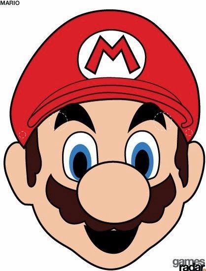 Máscara de Super Mario Bros para Imprimir Gratis.