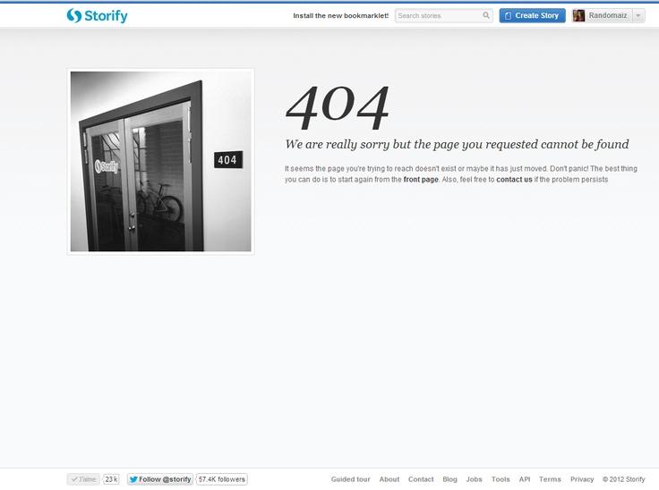 404 Error Page Design  | http://storify.com/404