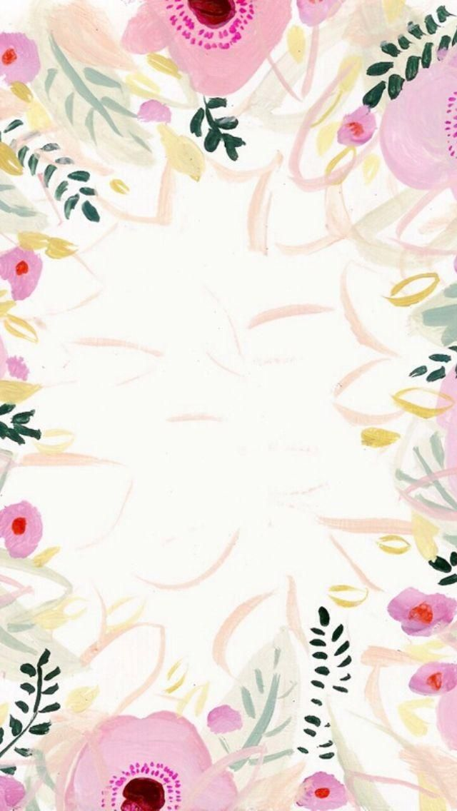 30 Cool iPhone Wallpaper Ideas - pretty painted flower vignette
