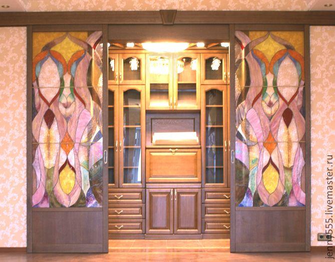 витражная дверь-готика - Витраж,Витражная роспись,Витраж Тиффани,витражное стекло