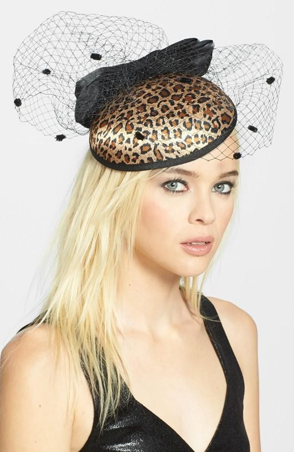 Love this leopard fascinator headband. Perfect for adding a fierce touch to the Derby Day attire.