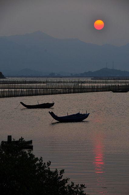 Sunset in HuiDong, Gunagdong, China