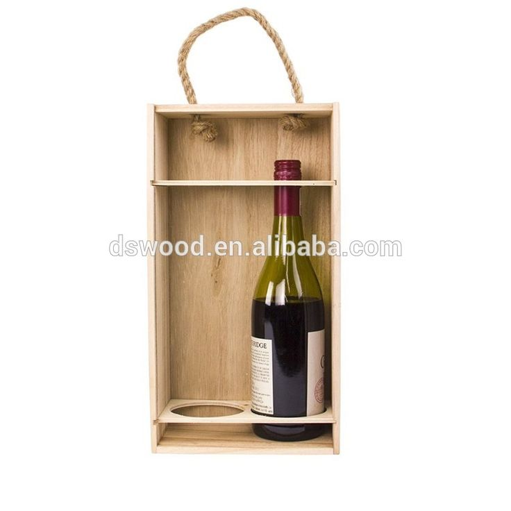 High End China Unfinished 2 Wine Bottle Packaging Box Gift Box For Custom  Made #