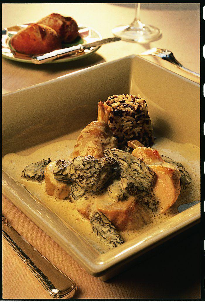 poulard de bresse au vin jaune et aux morilles - Cuisine Provenac2a7ale Jaune Et Verte