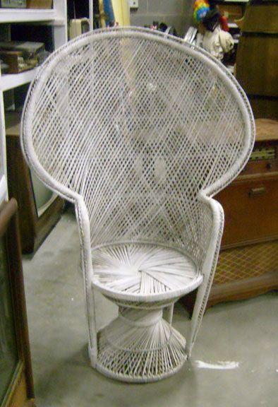 Rattan Chairs Wicker Peacock Chair White Wicker