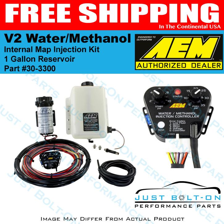 Aem 30 3300 Water Methanol Injection Kit 1 Gallon Tank V2 W Map Sensor Gas Fi Map Sensor Ignition Timing Performance Parts