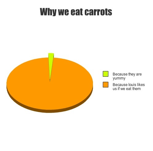 before louis- what carrots? gross! after louis- yup. i love carrots. I'm fairly sure that louis and i are meant to be.