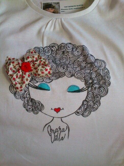Camiseta para niña MaraVilla.