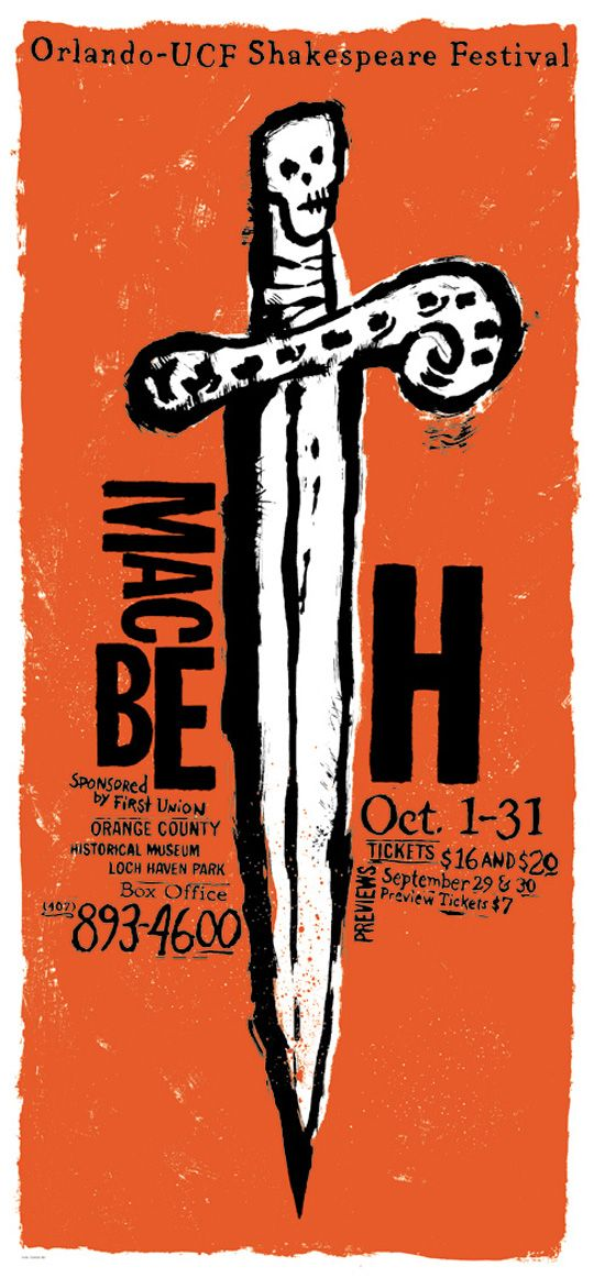 The play just lends itself to creepy posters... if we did MacBeth, I'd do a creepy poster too.