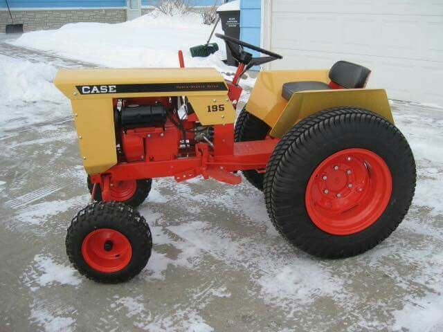Old Case Garden Tractor Parts : Case garden tractor made to actually work in a large