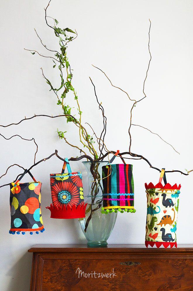 Laterne, Laterne! Kleinkindgeeignete Laternen aus Stoff statt Papier.   Lanterns made of fabric.   Moritzwerk