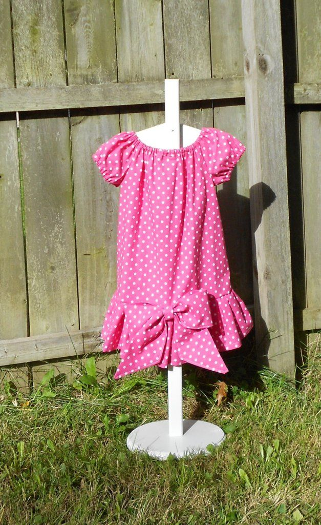 Girls pink polka dot dress - Sally Brown Costume - Girls dress up dress - 100% cotton