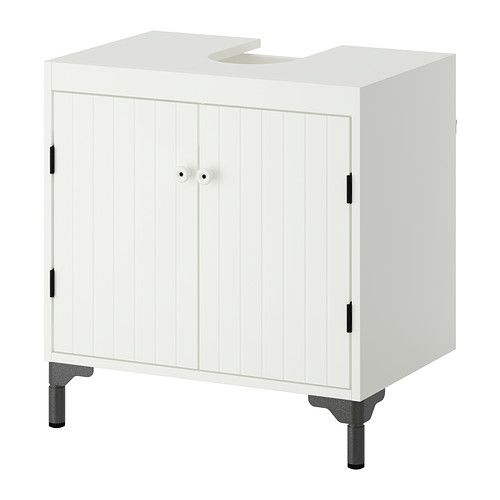 SILVERÅN Wash-basin base cabinet w 2 doors IKEA Adjustable feet for increased stability and protection against floor moisture.