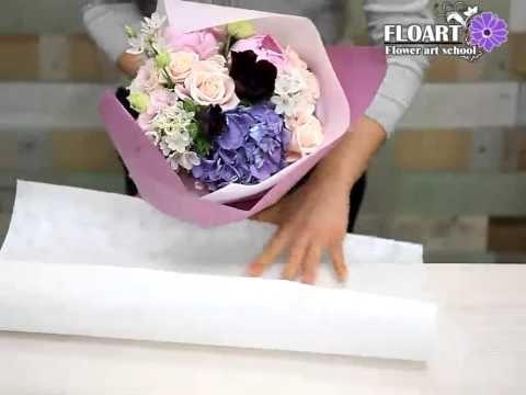 Как сделать букет цветов с пятью Rose - Craft Учебник - YouTube