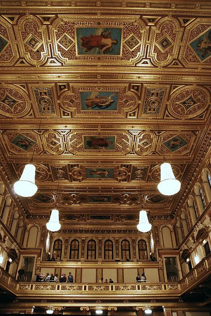 """""""Golden Hall - Musikverein"""" Famous for its acoustics, this is the venue for the Vienna Phil. Orchestra."""